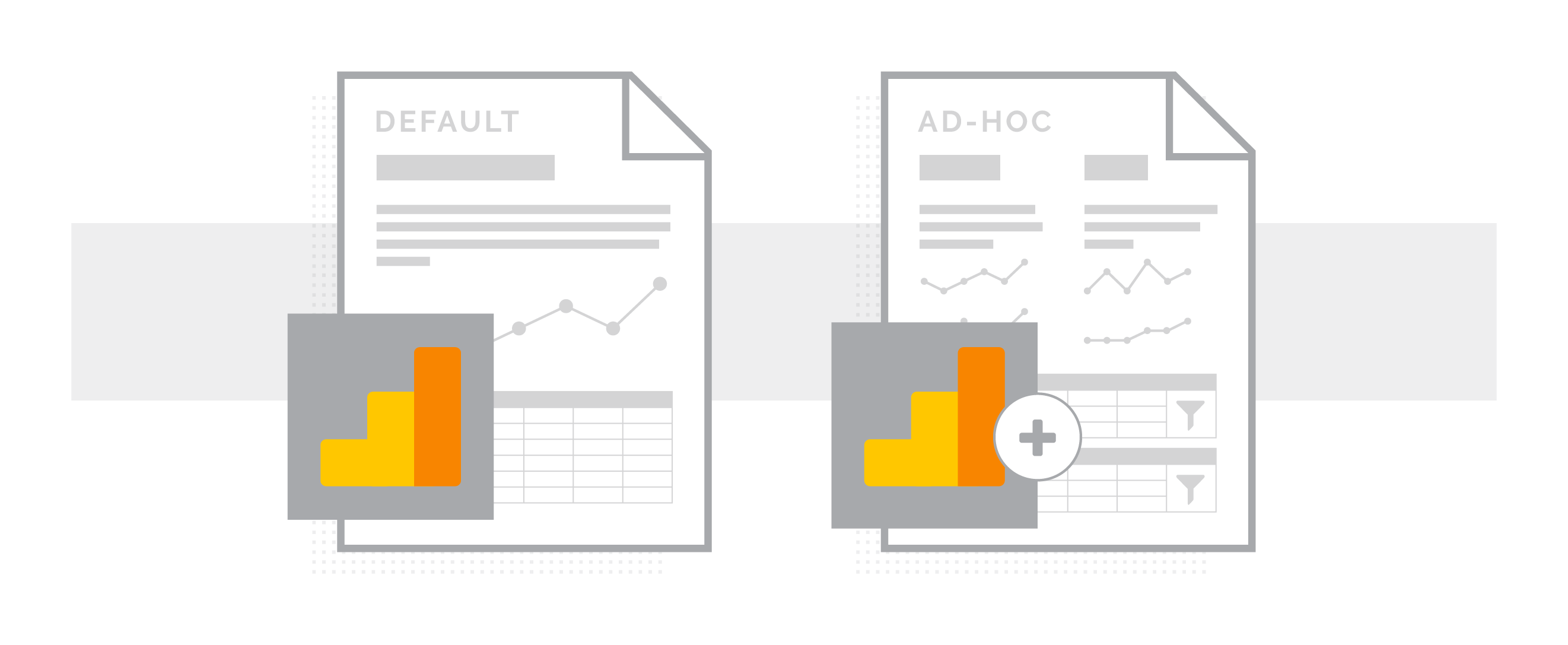 Default Reports vs. Ad-Hoc Reports