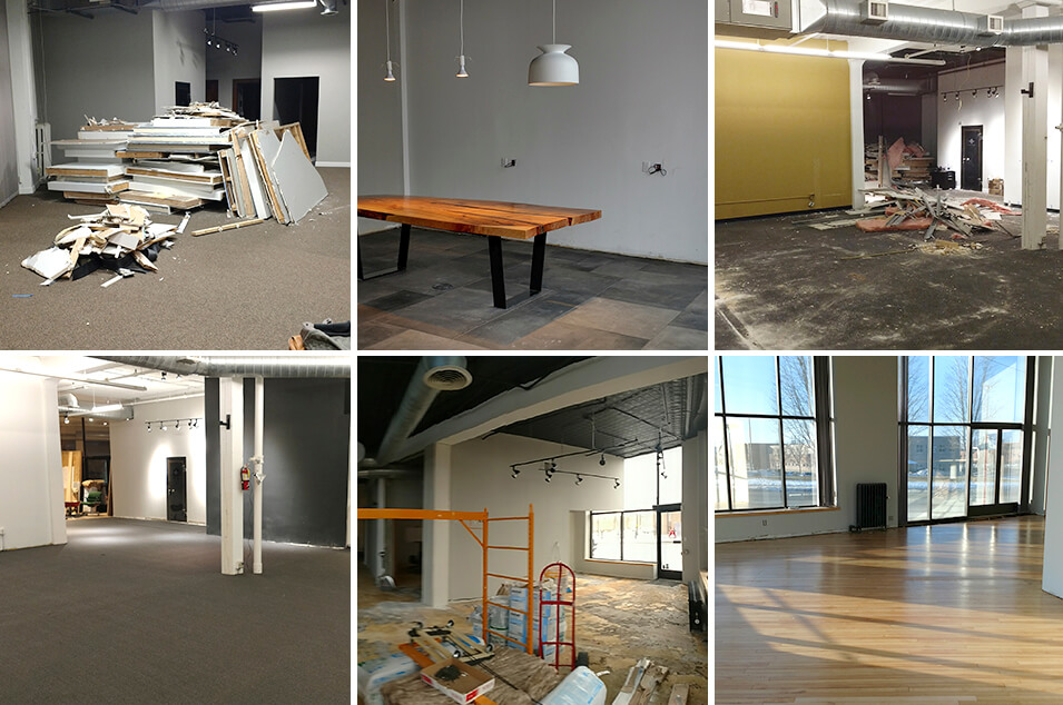 Office remodel of Plaudit's Minneapolis office in 2017