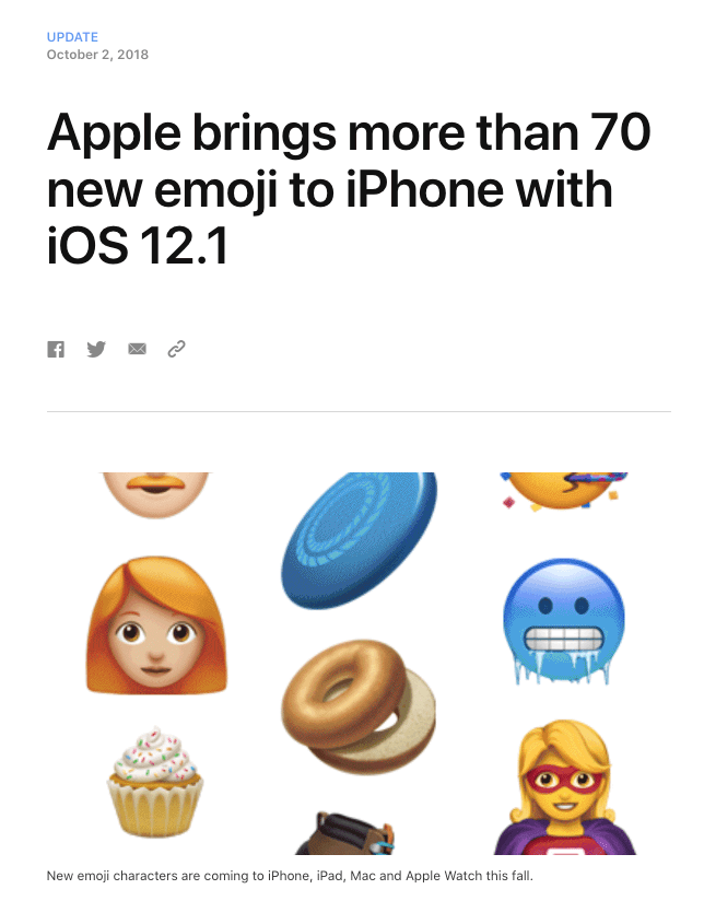 Apple Adds New Emoji