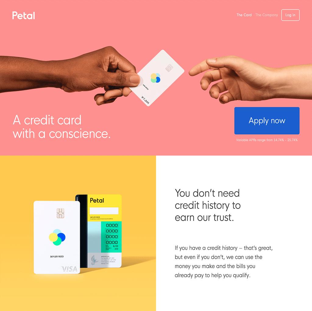 Colorful Web Site Design for Petal