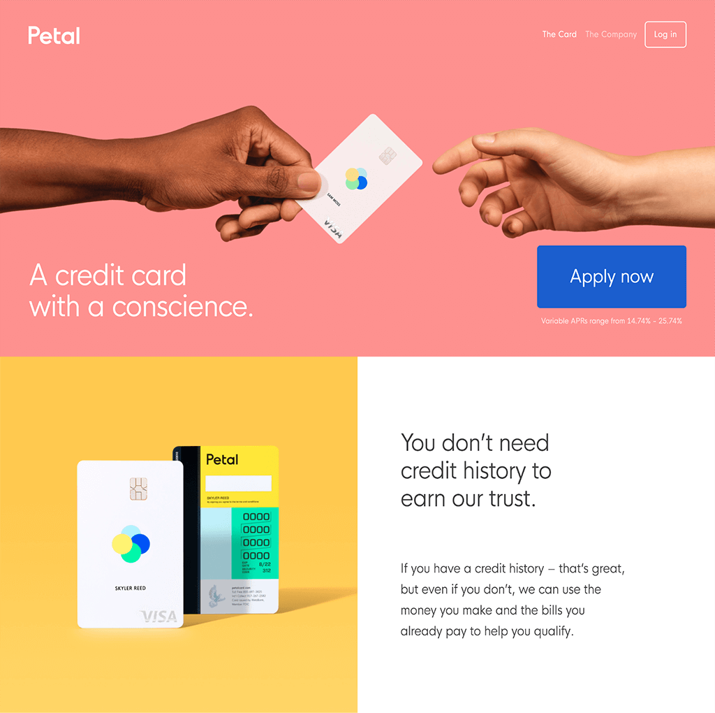 Colorful Web Site Design for Petal