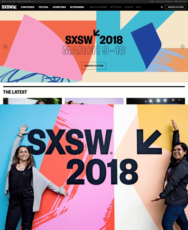 SXSW 2018 Rebrand