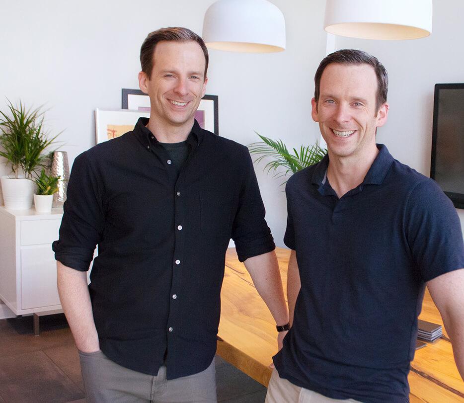 Founders of Plaudit Design, Michael and David Schlotfeldt