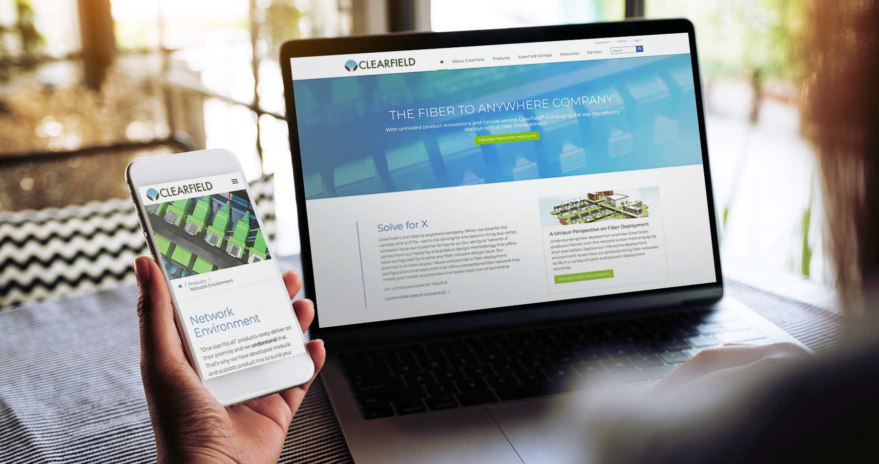 Corporate web design for Clearfield