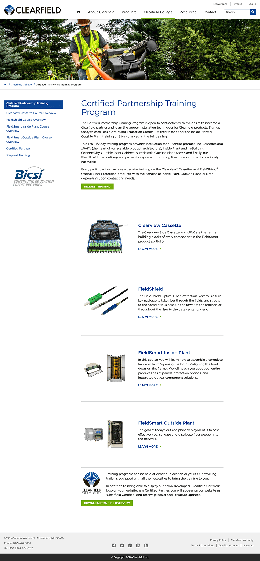 Minneapolis website design for partnership web page