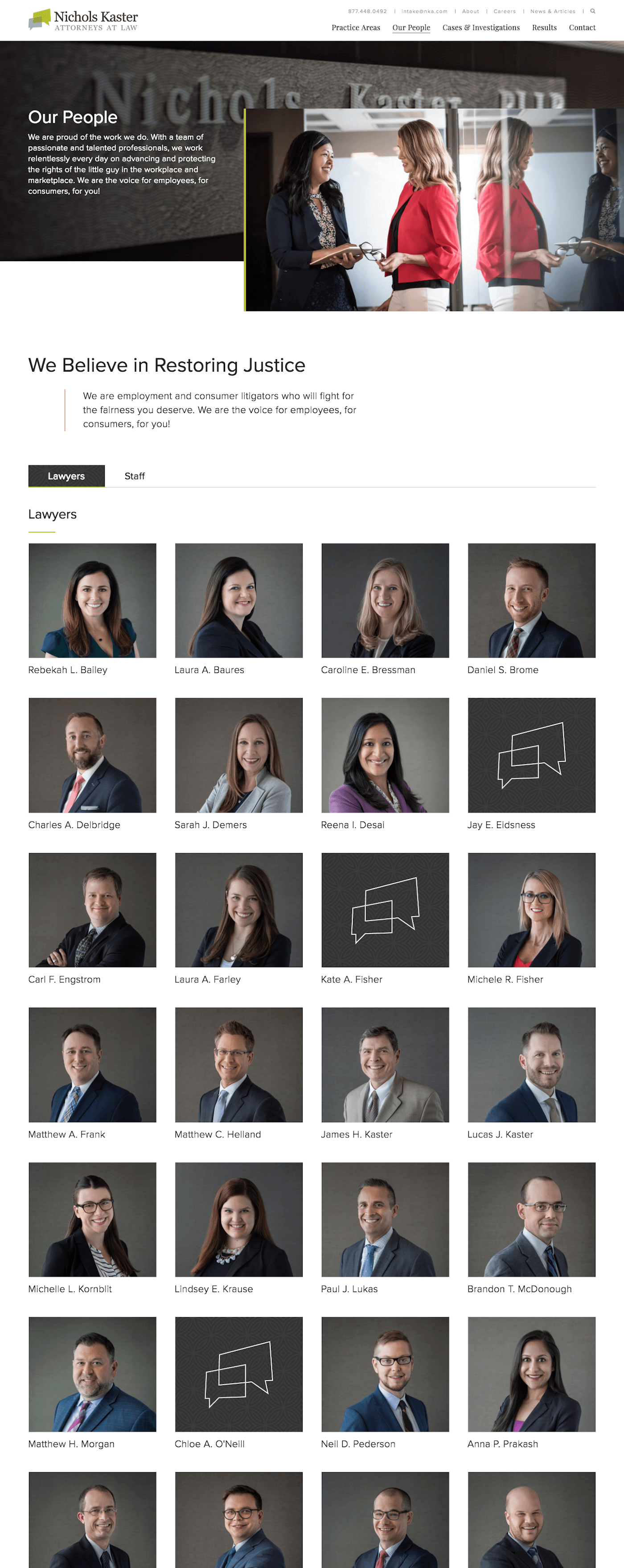 Nichols Kaster Web Design: Our People