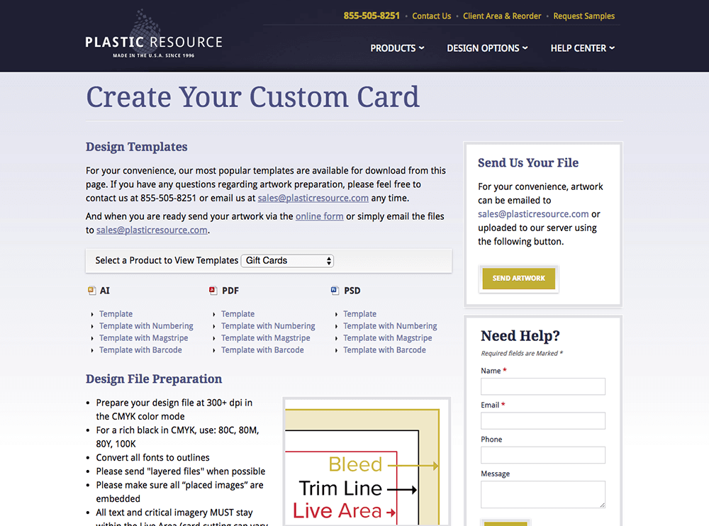 Custom card design templates