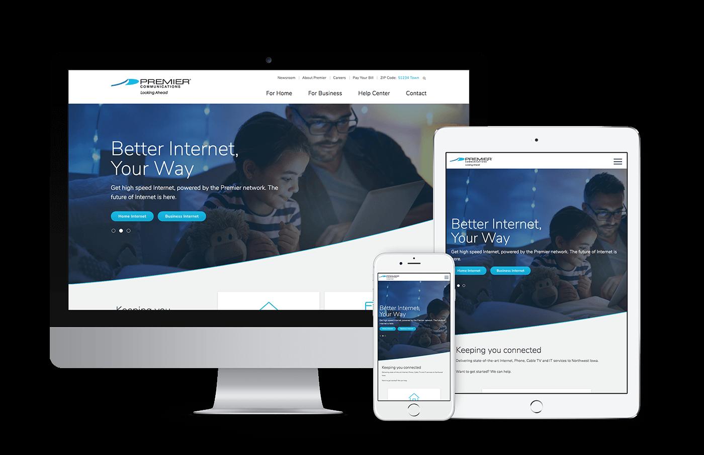 Premier Communications Responsive Web Design
