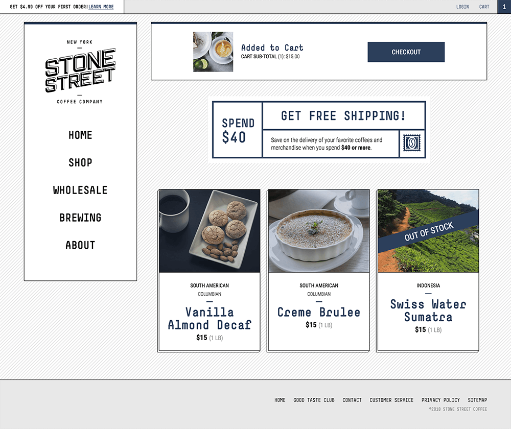 Cart web design