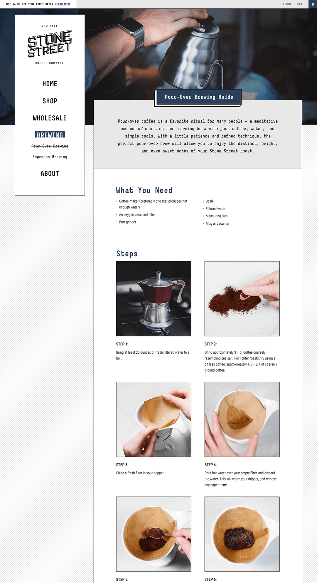 Brewing guide design example